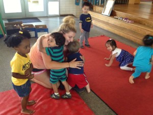 Courtney teaches the dance class and is well loved by the children.